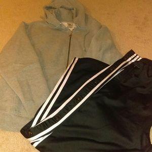 Adidas pants footlocker jacket lot